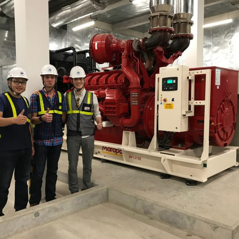 marapco-project-united-nations-international-school-vietnam-red-generator-installation-site-visit